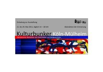 Flyer Köln 5 - Kulturbunker Köln
