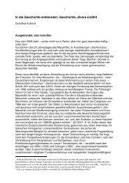 In die Geschichte einblenden, Geschichte divers erzählt (Essen, 2009)