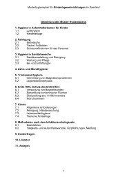Musterhygieneplan für Kindertageseinrichtungen - Saarpfalz-Kreis