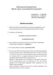 Wahlausschreiben - Saarpfalz-Kreis