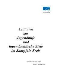 Leitlinien zur Jugendhilfe und jugendpolitische ... - Saarpfalz-Kreis
