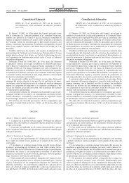 Conselleria d¶Educació Conselleria de ... - La Vega On-Line