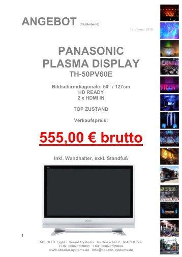 Angebot Freibleibend Absolut Light Und Sound Systems