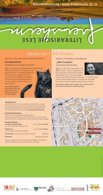 Flyer 2010 - Literarische Lese Freinsheim