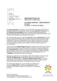 Pressemitteilung Monatsmagazine - Kultursommer Rheinland-Pfalz