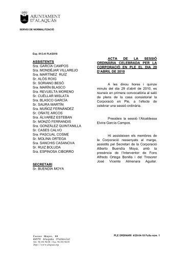 Acta Pleno 29-4-2010 Valenciano(pdf) - Ajuntament d'Alaquàs