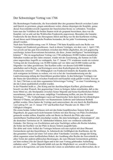 Der Schwetzinger Vertrag von 1766 - Kulturverein Bellheim