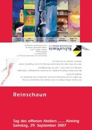 KVA Einladung.indd - Kulturverein Ainring
