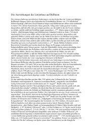 Die Auswirkungen des Linienbaus auf Bellheim - Kulturverein ...