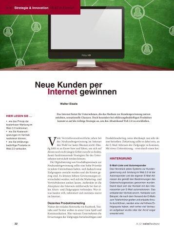 Neue Kunden per Internet gewinnen - Kunden-Sog-System
