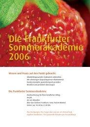 Die Frankfurter Sommerakademie 2006 Die Frankfurter ... - Karin Ruck