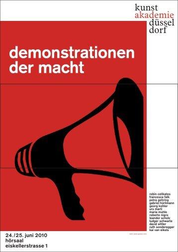 demonstrationen der macht