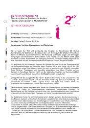 2x2 Forum für Outsider Art Eine europäische Plattform für Ateliers ...