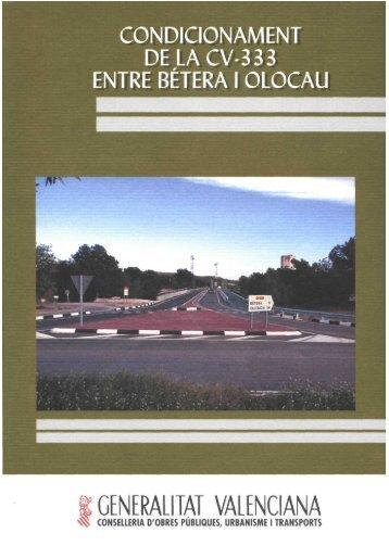 condicionament de la cv-333 entre bétera i olocau - Generalitat ...