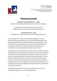 Einladung zur Vernissage - Kunstverein Bad Godesberg