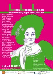 LEBEN Frauenbilder junger Künstlerinnen ... - Kunstverein Celle
