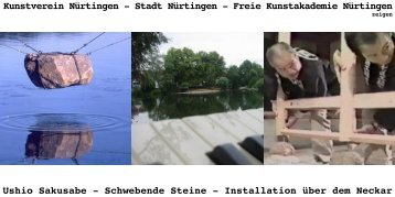 Stadt Nürtingen - Freie Kunstakademie Nürtingen Ushio Sakusabe