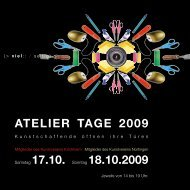 atelier tage 2009 - Kunstverein Nürtingen eV