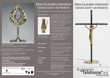"""DEM GlAUbEN diENENd - im Kunstverein """"Talstrasse"""""""