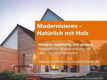 Modernisieren - natürlich mit Holz - Kuri Holzbau