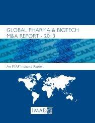 global pharma & biotech m&a report - 2013 - Clearwater Corporate ...