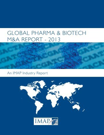 global pharma & biotech m&a report - 2013 - Clearwater Corporate ...