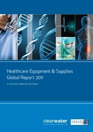 Healthcare Equipment & Supplies Global Report 2011 - Clearwater ...