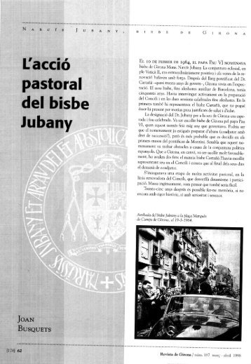 Lacció pastoral del bisbe Jubany - Raco