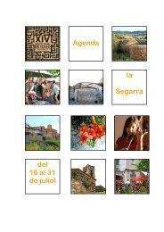 Agenda 16-31 de juliol.pdf - Consell Comarcal de la Segarra