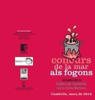 concurs de la mar als fogons 2013 - Ajuntament de Cambrils