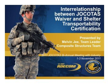 Jee-jocotas waiver and shelter transportability certification