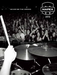 never be the crowd - MAPEX JAPAN