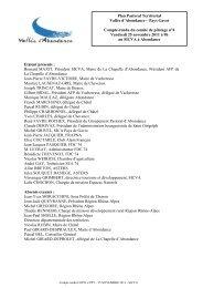 Compte rendu comité de pilotage Novembre 2011 - Vallée d ...