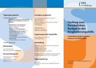 Fachtag zum Persönlichen Budget in der Eingliederungshilfe