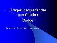 Trägerübergreifendes Persönliches Budget: Birgit Jung