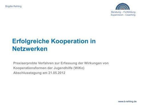 Erfolgreiche Kooperation in Netzwerken, Brigitte Rehling
