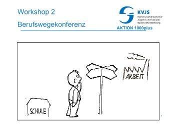 Workshop 2 Berufswegekonferenz