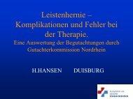 Leistenhernie – Komplikationen und Fehler bei der Therapie (PDF ...