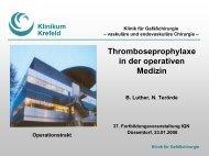 Thromboseprophylaxe in der operativen Medizin