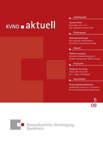 KVNO aktuell 5 2009 - Kassenärztliche Vereinigung Nordrhein