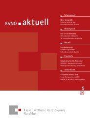 KVNO aktuell 9 2009 - Kassenärztliche Vereinigung Nordrhein