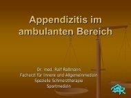 Appendizitis im ambulanten Bereich (PDF, 3.450 KB) Dr. med. Ralf ...