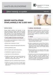 Patienteninformation Diabetes und Füße - Türkisch