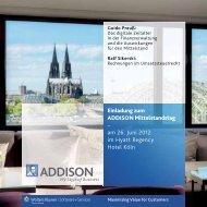 Agenda - ADDISON Software und Service Gmbh