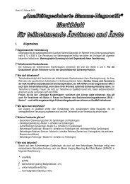 Merkblatt QuaMaDi - Kassenärztliche Vereinigung Schleswig-Holstein
