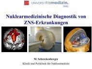 Nuklearmedizinische Diagnostik von ZNS-Erkrankungen - KV RLP