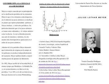 julius lothar meyer universidad de puerto rico en arecibo - Tabla Periodica Julius Lothar Meyer