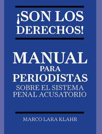 Manual para Periodistas sobre el Sistema Penal Acusatorio