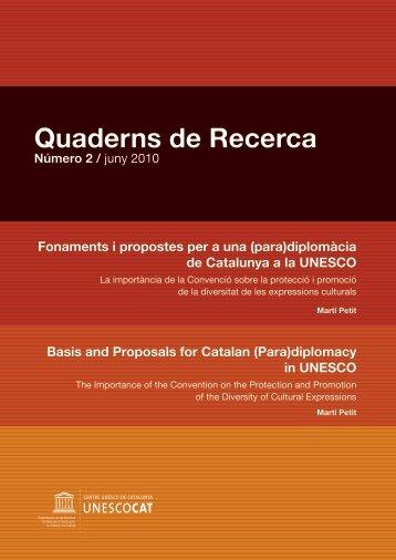 Fonaments i propostes per a una (para) - Centre UNESCO de ...
