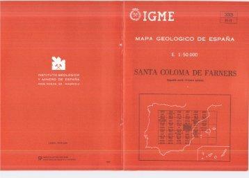 MAPA GEOLOGICO DE ESPAÑA - Instituto Geológico y Minero de ...